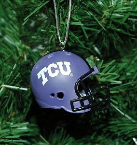 TCU Horned Frogs Football Helmet Christmas Ornament   eBay