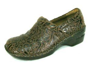 Born-BOC-Shoes-Sz-8-5-M-W-Loafers-Brown-Suede-Slip-On-Nursing-Clogs