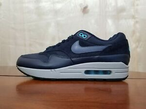5d6d41a43c NIKE AIR MAX 1 PREMIUM OBSIDIAN NAVY BLUE FURY BLACK CARBON 875844 ...