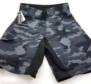 Men Beach Shorts Military Diamond camo Solid Board Swim Drawstring Waist Board Shorts
