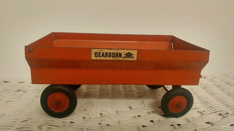 Vintage Slik Toys Dearborn Toy Farm tracteur Wagon