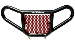 Raptor-700-YFM-700-Front-Bumper-Red-and-Black-Screen-Alba-Racing-197-R2-BR