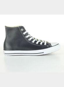 Converse Scarpe Sneakers Chuck Taylor All Star Leather Uomo Nero ... f1a04b7b540