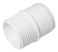 FLOPLAST WS64WH 40MM ABS SOLVENT WELD WASTE MALE ADAPTOR WHITE