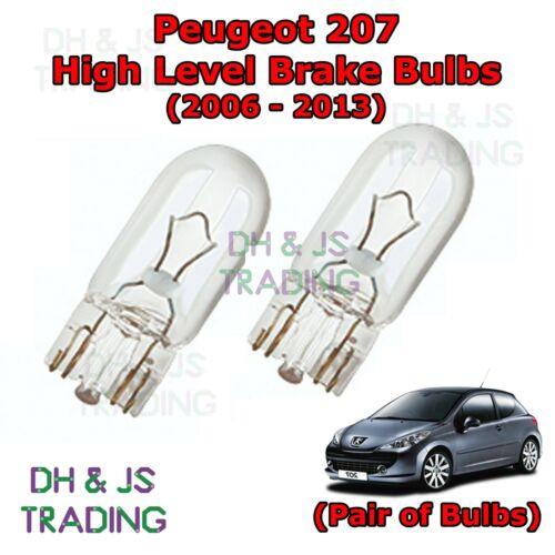 06-13 Peugeot 207 High Level Brake Light Bulbs High Brake Lights Bulb Pair