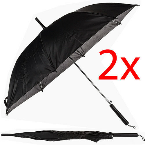 2 X AUTOMATIC OPEN CLOSE FOLDING COMPACT SUPER WINDPROOF ANTI RAIN SUN UMBRELLA