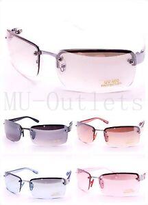 New-Mens-Womens-Rectangular-Designer-Fashion-Metal-Frames-Sunglasses-6074