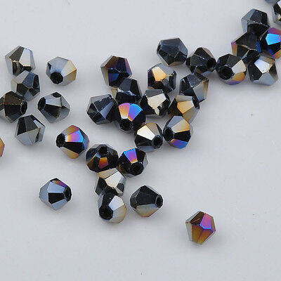 500pcs milky exquisite Glass Crystal 4mm #5301 Bicone Beads loose beads /%