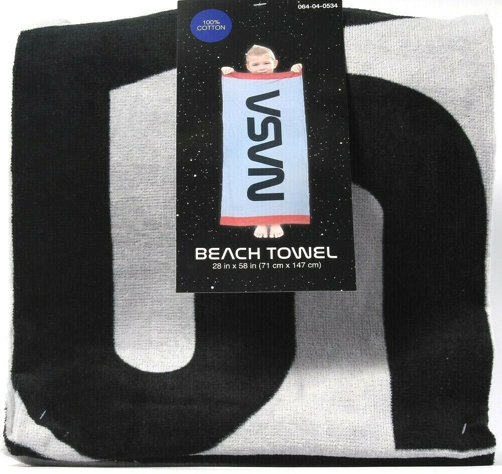 1 Count Franco Manufacturing NASA Beach Towel 28 in X 58 in Cotton 064-04-0534