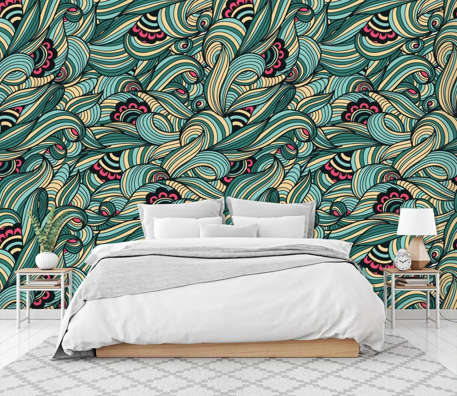 3D Abstract colord Painted 2  Wallpaper Mural Wall Print Decal Indoor Murals AU