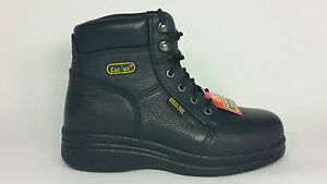 "Cactus Work Boots 6"" Black 6600S (STEEL TOE) and SLIP RESISTANT Real Leather NIB"