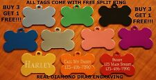 Custom Engraved Dog Tag Pet ID WITH with split ring