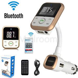 bluetooth transmetteur fm voiture mp3 lecteur de musique lcd modulateur usb ebay. Black Bedroom Furniture Sets. Home Design Ideas