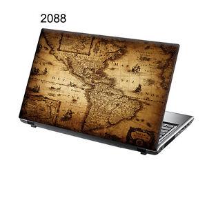 TaylorHe Laptop Vinyl Skin Sticker Decal Vintage World Map - Vintage world map decal