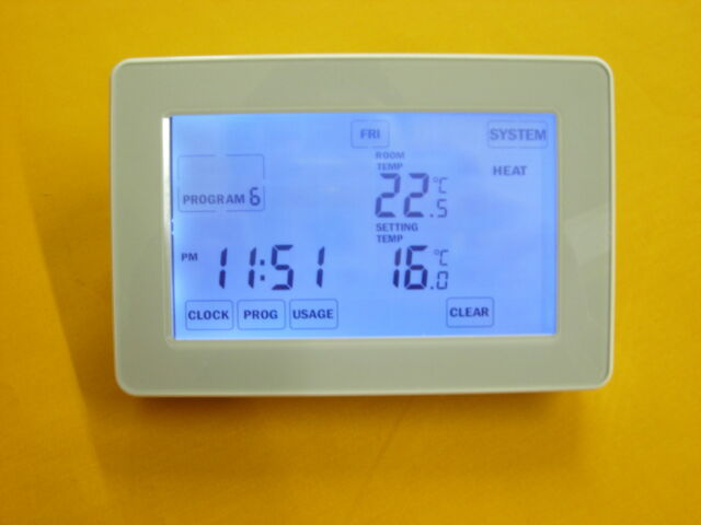 TOUCH SCREEN PROGRAMMABLE ROOM THERMOSTAT (CTS-G)