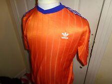 Medium VTG Adidas Trefoil Poly soccer jersey shirt Clemson Tiger colors