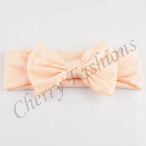 Baby Girls Bunny Cute Kids soft Turban Rabbit Headband Bow Hair bands Head wrap