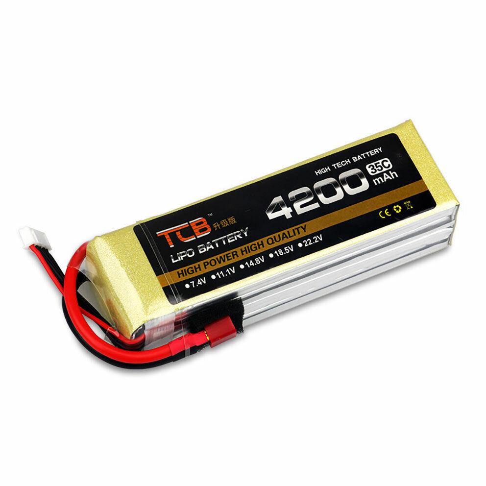 11.1V 3S 4200mAh 35C Lipo Batería de actualización T-Plug descarga radio control modelo lipolymer