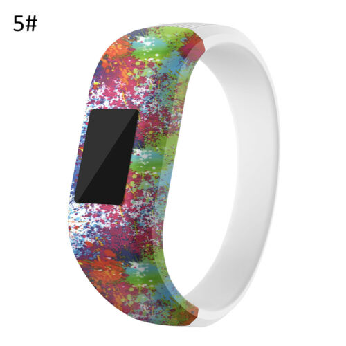 AM/_ CO/_ Kids Cool Soft Silicone Floral Print Watchband Wrist Strap for Garmin Vi