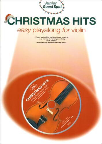 1 of 1 - Christmas Songs Carols Easy Violin Sheet Music Book & Playalong CD Shop Soiled