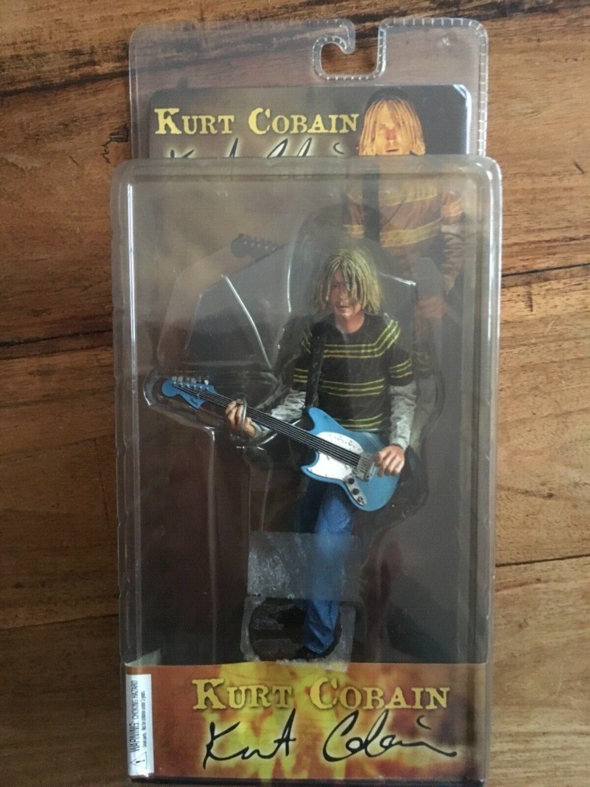 Kurt Cobain Nirvana figurine Neca Scellé