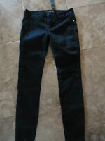 Sneak Peek Blue Twill Animal Print Stretch Skinny Pants Juniors Size 3