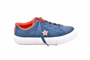 f90854412216 Converse Youth One Star OX 359731 Shoes Navy White Size UK 10 RRP ...