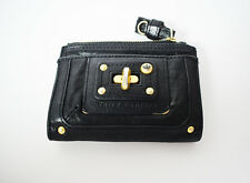 Juicy Couture Women Leather Wallet Purse Black