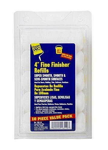 """Foampro 165-10 /""""Fine Finisher/"""" 4/"""" Foam roller Refills Pk//10"""