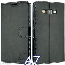 FOR SAMSUNG GALAXY A7 LUXURY LEATHER CASE COVER FLIP POUCH + FREE SP SM-A700F