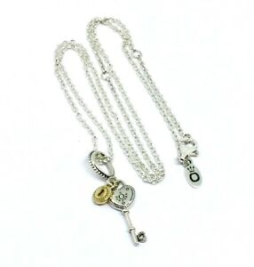 1eef211ff13c5 Details about Genuine Authentic Pandora 14K Gold Key To My Heart Necklace  45cm S925 ALE
