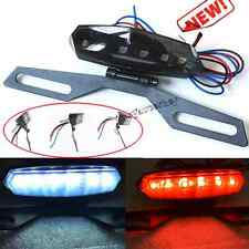 Smoke LED Motorcycle Quad Scooter Number License Plate Rear Brake Tail Light us