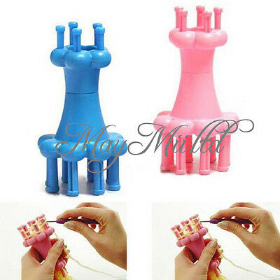 Mini Knitter Knitting Spool Loom Needle Hook Scarves Straps Making Craft Good J