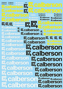 Calberson-Sponsors-Arc-1-43-Autocollant-Decalcomanie