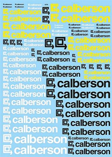 Calberson Sponsoren Bogen 1:18 Decal Abziehbilder