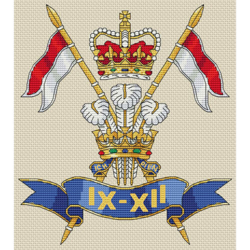 9th//12th Royal Lancers Badge Cross Stitch Design kit or chart