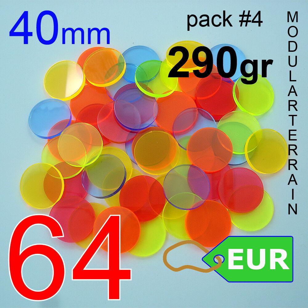 64x 64x 64x basis rundschreiben metacrilato 40mm fluor - runde klar, acryl ROTonda unendlichkeit d82d4e