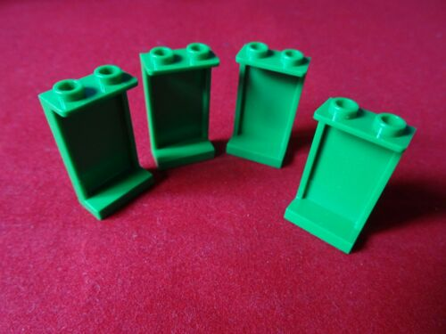 LEGO PART 87544  GREEN 1 x 2 x 3 PANEL x 4