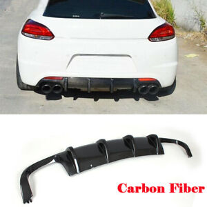 Carbon Diffusor Heckdiffusor Passt für VW Scirocco R Heckansatz Spoiler 2009-16