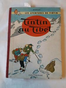 Album-de-TINTIN-au-Tibet-B29-de-1960-edition-originale-francaise