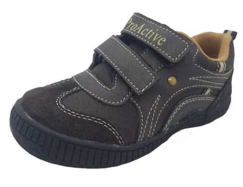 Boys Shoes ProActive William Hook /& Loop Brown or Navy Size 7-11 Casual Shoe New