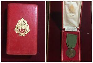 Medaille-Pio-XII-Jubile-1950-Ai-Maintien-des-Contributeurs-Opus-Mistruzzi-Boite