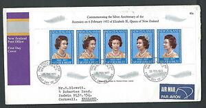 1977 New Zealand Fdc Queen Elizabeth Ii Timbro Arrivo - V Forme éLéGante