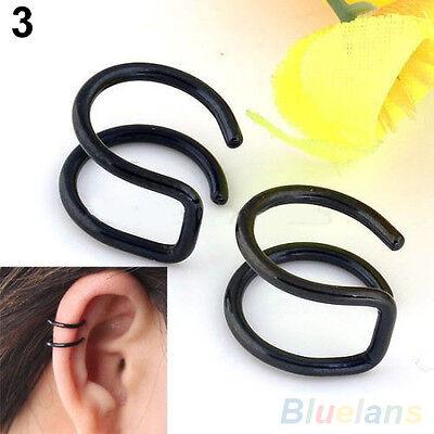 Men's Women's Chic Clip-on Earrings Non-piercing Cartilage Cuff Eardrop Ear Clip