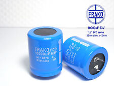 10000uF - 63V FRAKO ECD Ultra Audio Grade!! Electrolytic caps   x 2 pieces