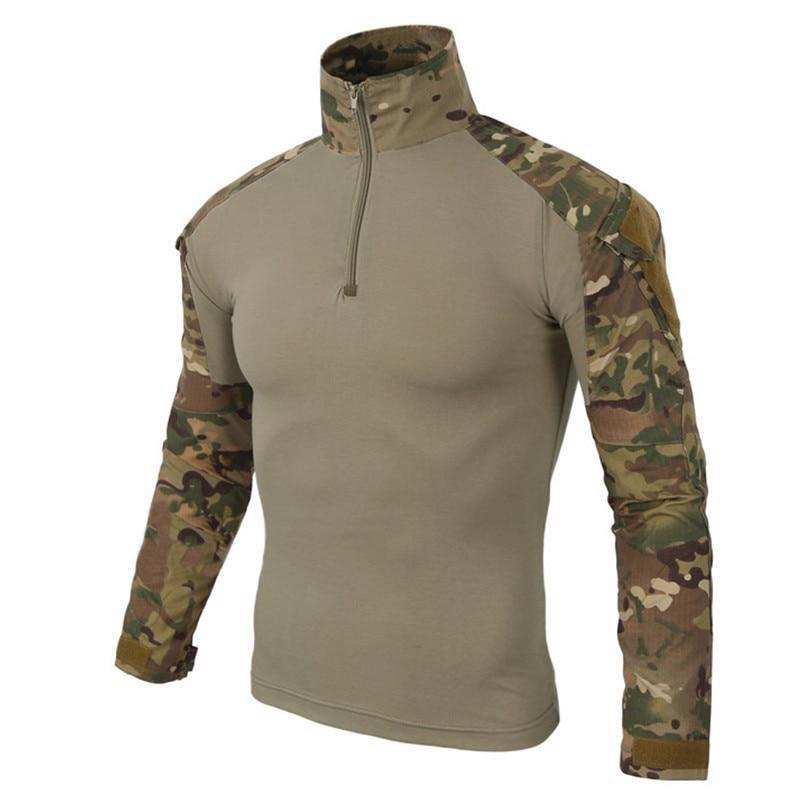 Camouflage Army Combat Uniform  Airsoft Tactical Clothe with Elbow Pads Shirt New  lowest whole network