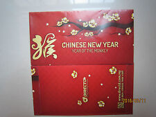 Directd Year of Monkey Flower Chinese New Year Ang Pow/Red Money Packet 2pc