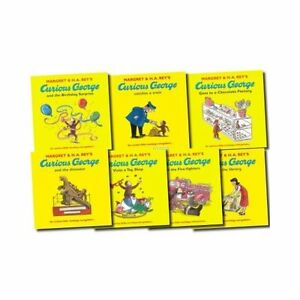 Curious-George-7-Books-Collection-Set-By-Margret-Rey-Gift-Pack-Visits-a-Library