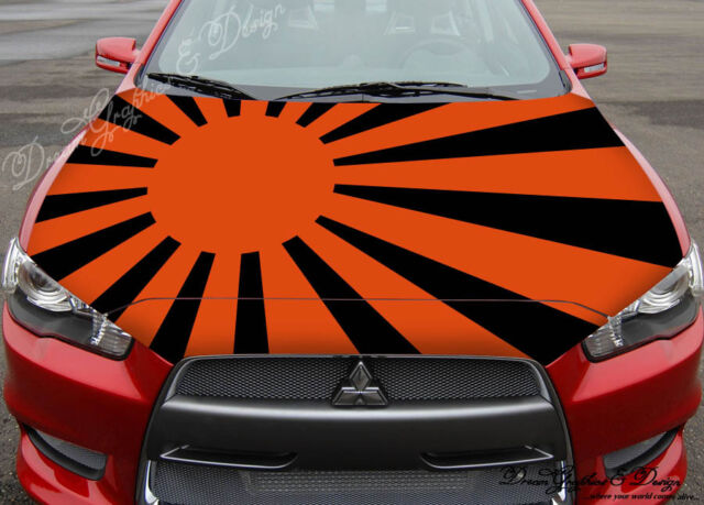 Graphic Sun Full Color Graphics Adhesive Vinyl Sticker Fit any Car Hood #219