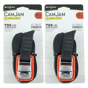 Nite Ize CamJam Tie Down Strap 6/' Rugged Heavy Duty w//Die-Cast Cam-Lock Buckle